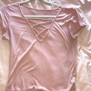 Cross front top pacsun